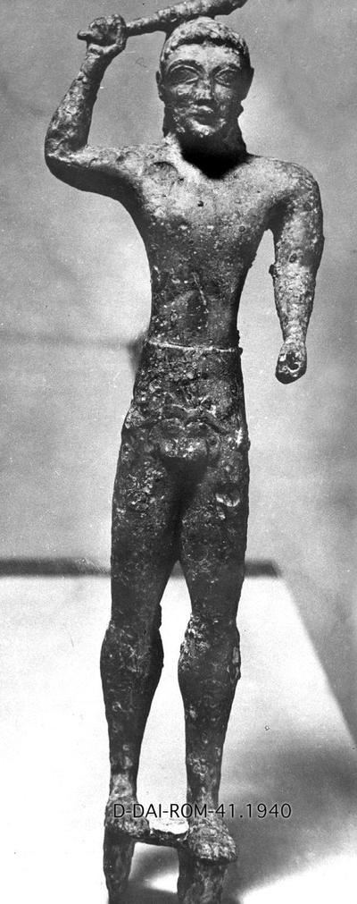 Bronzestatuette des Herakles