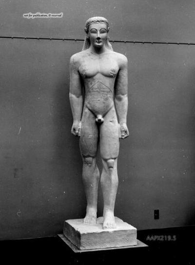 Statue eines Kouros aus Sounion, sog. Kouros A