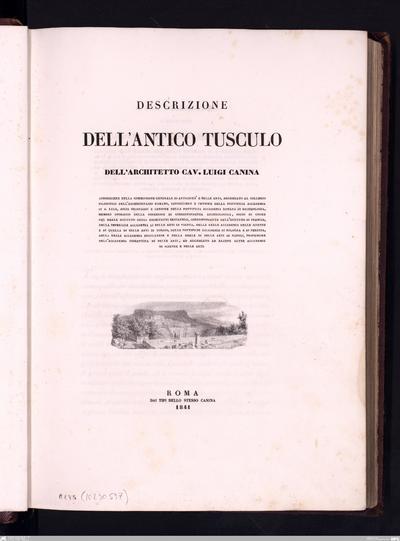 antica città di Veii descritta e dimostrata con i monumenti dal cav. Luigi CaninaDescrizione della antica città di VeiiAntica città di Veii