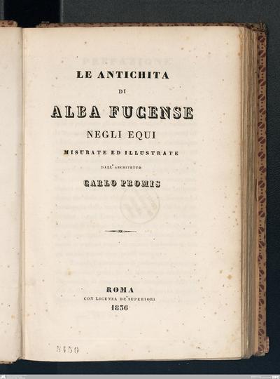 Lettera del signor dottore Alessandro Visconti al signor Giuseppe Carnevali di Albano sopra alcuni vasi sepolcrali rinvenuti nelle vicinanze della antica Alba-Longa