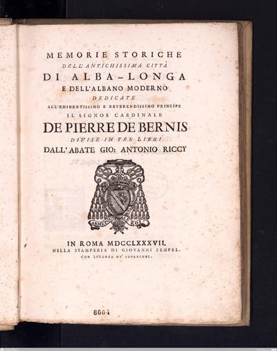 Sopra molti e diversi oggetti di alta antichità scoperti a Breonio nel Veronese
