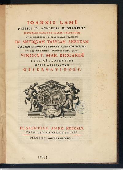 Due disertazioni, la prima delle quali spiega una lapida scavata nel villaggio di Riese l'anno 1730, e fa vedere l'antichità del castello d'Asolo. Esamina l'altra l'essere antico di Treviso