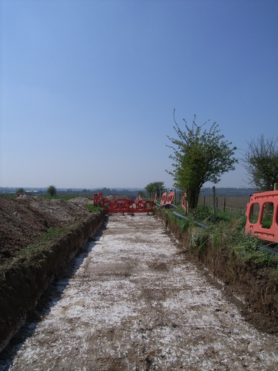 IMAGE FROM RATFYN FARM TO BULFORD MOD CABLE REALLIG