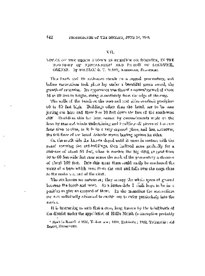 Notice of the Broch known as Burwick or Borwick, in the Township of Yescanabee and Parish of Sandwick, Orkney., Volume 16, 442-50