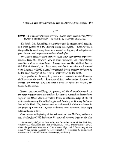 Notes on the Antiquities of the Black Isle, Ross-shire, with Plans and Sections., Volume 16, 477-92