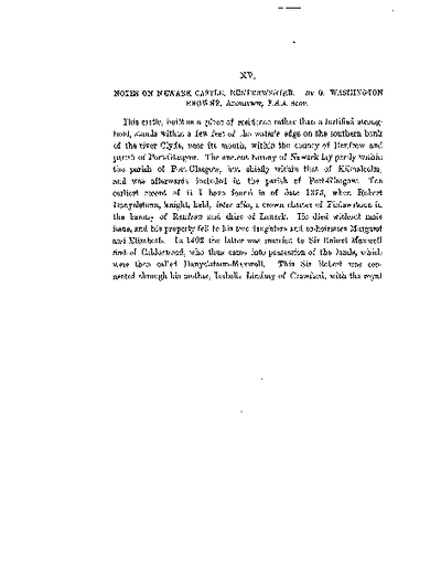 Notes on Newark Castle, Renfrewshire., Volume 16, 494-504