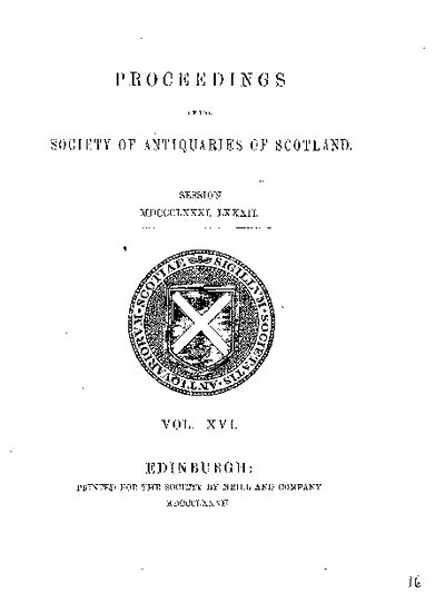 Preliminaries, Volume 16,