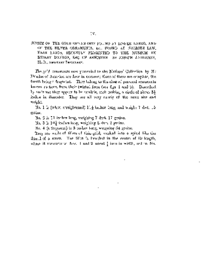 Notice of the Gold Ornaments found at Lower Largo, and of the Silver Ornaments, &c., found at Norrie's Law, near Largo, recently presented to the Museum by Robert Dundas, Esq., of Arniston., Volume 18, 233-47
