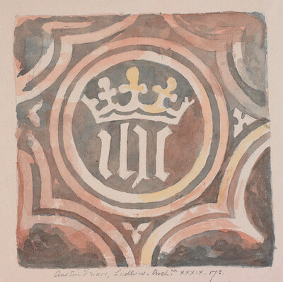 Medieval floor tile from Ludlow
