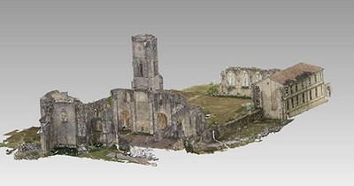 3d model of the abbey Notre Dame de la Sauve Majeure