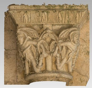 3d model of capital 10 of the Abbey Notre Dame de la Sauve Majeure