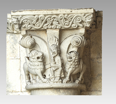 3d model of capital 11 of the Abbey Notre Dame de la Sauve Majeure