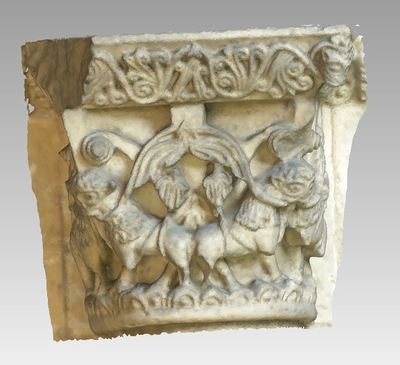 3d model of capital 6 of the Abbey Notre Dame de la Sauve Majeure