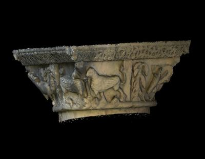 3d model of capital 7 of the Abbey Notre Dame de la Sauve Majeure