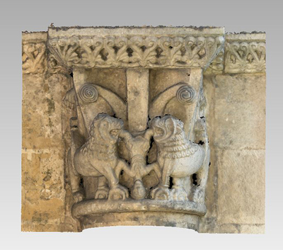 3d model of capital 8 of the Abbey Notre Dame de la Sauve Majeure