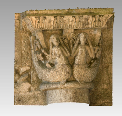 3d model of capital 9 of the Abbey Notre Dame de la Sauve Majeure