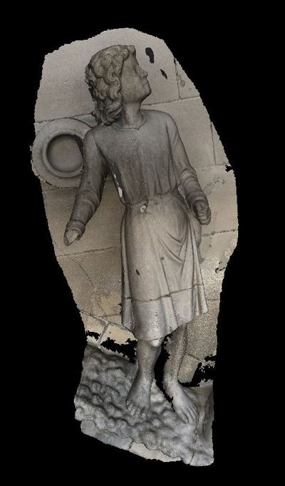 3d model of David in the Reims cathedral