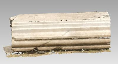 3d model of an entablement in the archaeological site of Xanthos