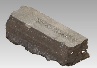 3d model of bloc TH602 in the archaeological site of Xanthos