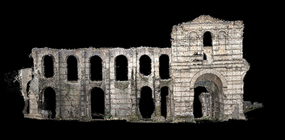 3d point cloud of the Gallien amphitheater