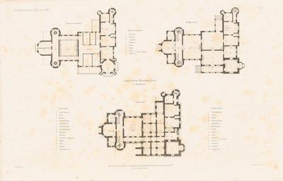 Jagdschloss, Mrossowa-Gora. (Aus: Atlas zur Zeitschrift für Bauwesen, hrsg. v. F. Endell, Jg. 26, 1876.)