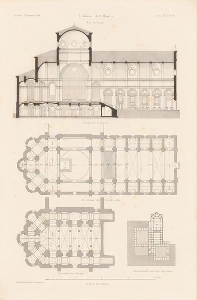 S. Maria del Monte, Cesana. (Aus: Atlas zur Zeitschrift für Bauwesen, hrsg. v. F. Endell, Jg. 26, 1876.)