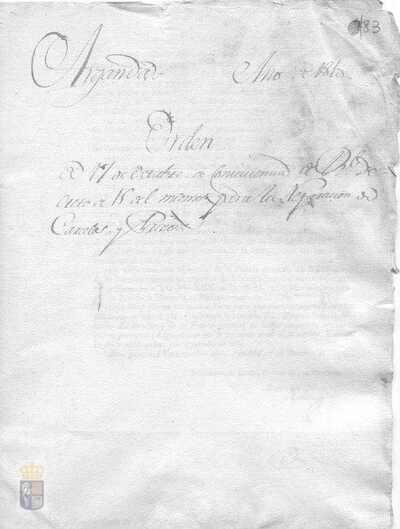 Orden de Pedro de Mora y Lomas, prefecto de la provincia de Madrid, sobre el real decreto de José I por el que se ordena a los ayuntamientos de la provincia de Madrid reparar las cárceles y prisiones