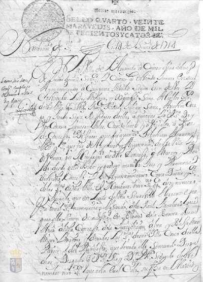 Nombramiento de Francisco José Ballesteros como escribano de número de la villa de Arganda por la muerte de Sebastián Herranz