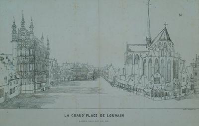 La Grand'Place de Louvain. D'àprès un tableau peint vers 1650