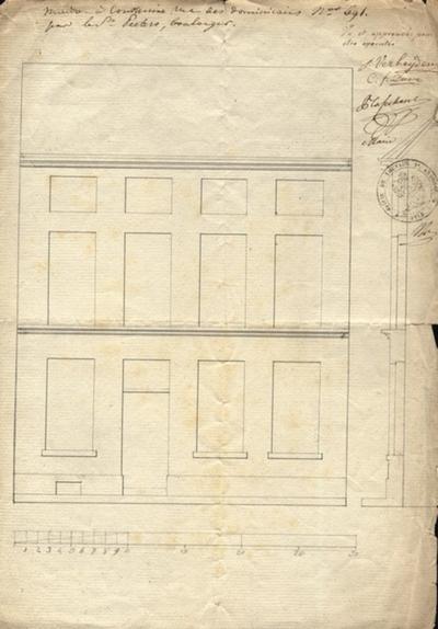 Maison à construire, rue des Dominicaines par le Sr, Peeters,boulanger