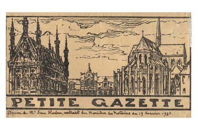 Petite Gazette. Dessin de Mr. Jean Hodru, extrait du Moniteur des Notaires du I9 Janvier I930