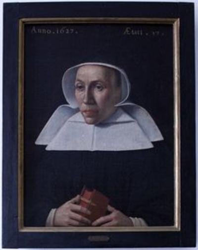 Portret vanMargaretha Berghes, abdis van Herkenrode (1620-1637)