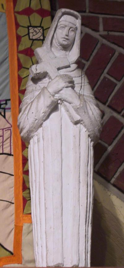 H. Lutgardis van Tongeren met het Kruis in de armen