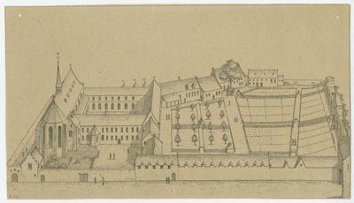 Augustijnenklooster en -college in de Vaartstraat in Leuven