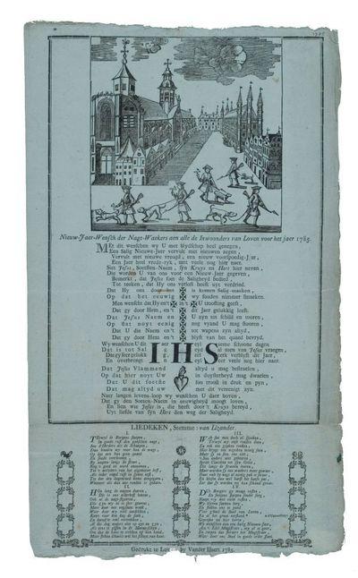 Nieuw-jaer-wensch der nagt-waekers aen alle de inwoonders van Loven voor het jaer ons Heere 1785
