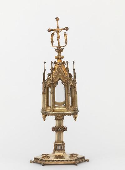 Anoniem (Parijs), Torenmonstrans van Herkenrode voor het bewaren van het H. Sacrament van Mirakel, 1286, verguld zilver.