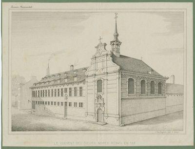 Le couvent des soeurs noires rebati en 1686