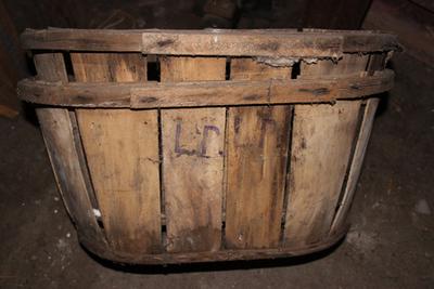 Ovalen kist om appels en peren te verpakken