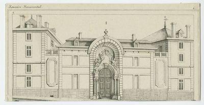 Voorgevel van het Heilige Geestcollege in Leuven