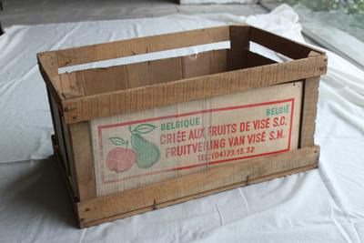 Verloren verpakking van de veiling van Visé om appels en peren in te verpakken