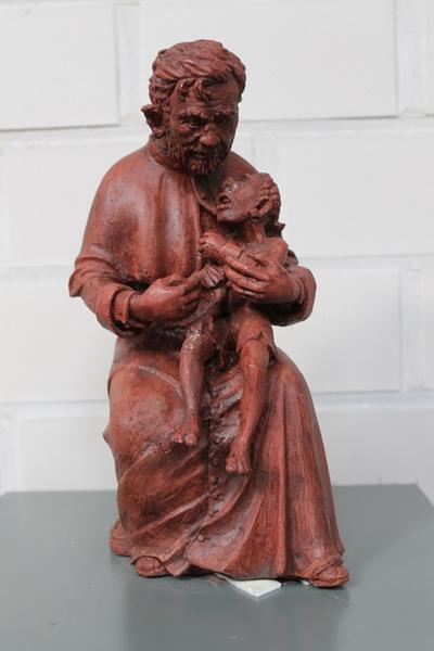 Pater Damiaan met melaatse