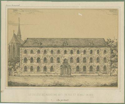 Le Collège des Augustins bâti en 1612, et démoli en 1810