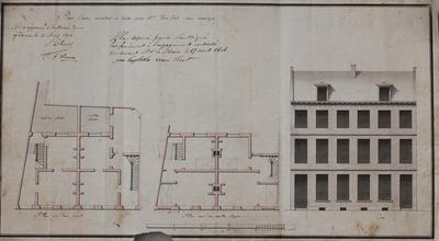 Plan d'une maison à bâtir pour Mr, Van Lint - Rue marengo