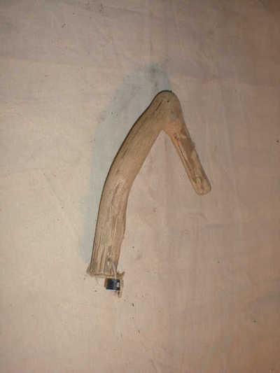 Haak om een plukkorf aan te hangen