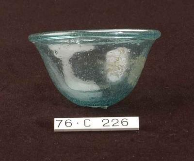 Complete tuimelbeker in blauwgroen glas