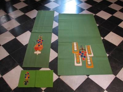 Altaardoek, lezenaarsdoek, bijbelomslag – groen