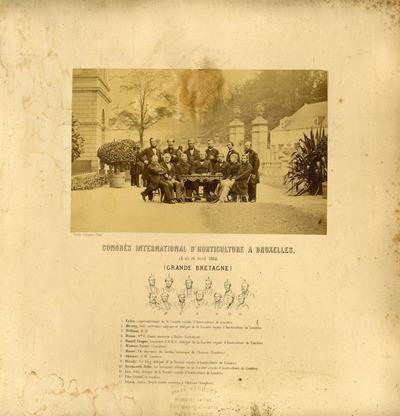 [PORTRAIT] Congrès international d'horticulture à Bruxelles, 24, 25, 26 avril 1864 (Grande-Bretagne)