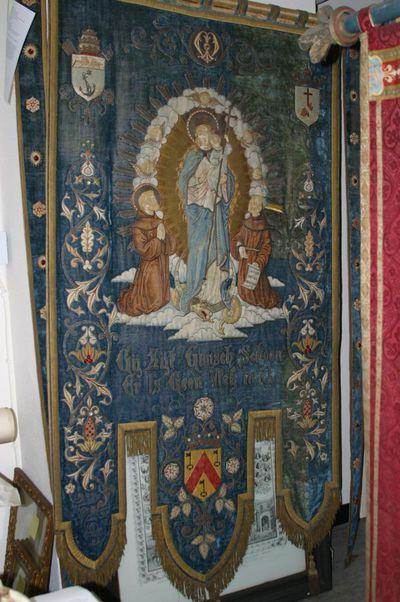 Onze-Lieve-Vrouw Onbevlekte Ontvangenis aanbeden door H. Franciscus en Duns Scotus