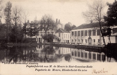 Papierfabriek in Sint-Genesius-Rode