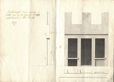 Sousbasement d'une maison à batir rue de Tirlemont N°287 appartenant à Mr, Beckx